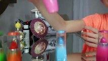 Super-héros réalité la télé rouge à lèvres défi sœurs Essayez sur maquillage et ré