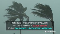 Hurricane Irma one of the strongest storms ever in Atlantic