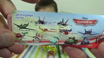 Des œufs avions jouets disney jouets avec avions surprise tuba déballage disney surprise,