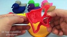 Y colores compilación creativa patos pescado para divertido Niños Aprender moldes jugar con Doh eggvideo