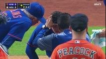 Une balle casse le nez d'un joueur de baseball