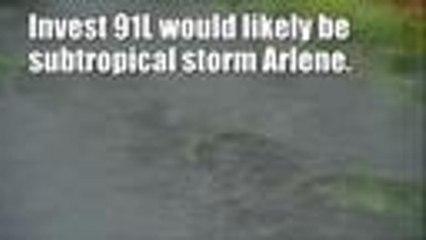 Rare April storm in the Atlantic — Invest 91L