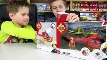 De luxe déballage et vidéo pompier sam camion de pompiers jouets pour enfants jupiter