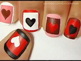 Valentines Day Heart Nail Art Tutorial - Valentines Day Nails for Valentines Day Nail Art Valentines Day nail designs
