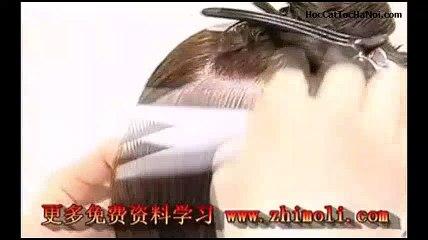 Video Học Cắt Tóc cơ bản, Basic Haircut One length (Phần 2)