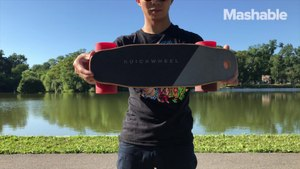 This tiny electric skateboard is perfect for getting you around town