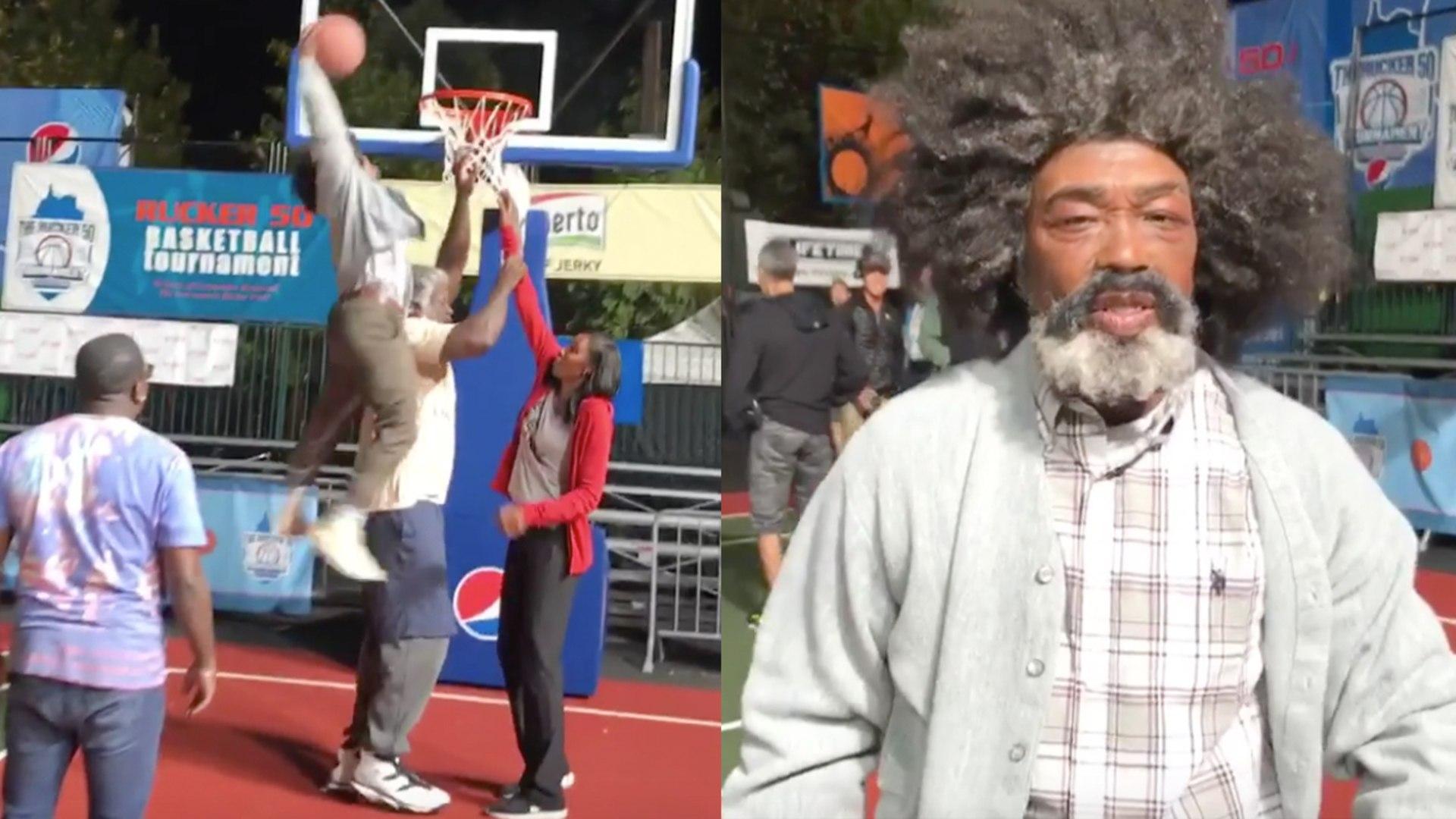 Nate Robinson POSTERIZES Shaq on 'Uncle Drew' Set