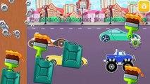 Golpes coches dibujos animados dibujos animados desafío Niños para niño Niños carrera Estados Unidos vídeos k
