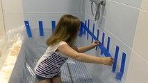 Bébé mal Dans le et de Piscine bain WC piscine en mousse de papier mauvais enfants inondent BPE
