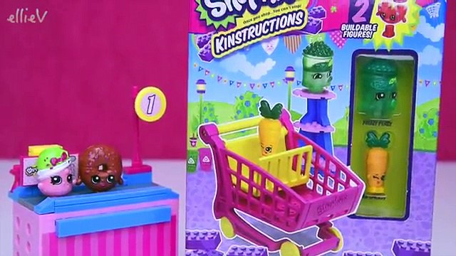 Shopkins Kinstructions Shopping Cart Build Review Silly Play - Kids Toys