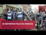 Fuerte enfrentamiento entre policías y mototaxistas en Xochimilco