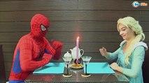 Spiderman & Frozen Elsa ZOMBIE ATTACK! Princess Anna Maleficent Hulk Superheroes IRL Episode 19