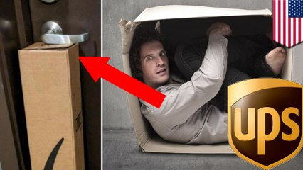 พนักงานส่งพัสดุ UPS เผลอขังคนไว้ในบ้าน