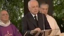 Pierre Bergé avait donné un discours très émouvant aux obsèques d'Yves Saint-Laurent