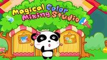 Bébé autobus couleur les couleurs pour des jeux enfants Apprendre magique mélange avec Panda |