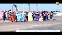 LES FEMMES DE MANKO TAXAWU SENEGAL MANIFESTENT DEVANT LA PRISON DE REBEUSS