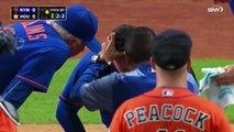 Une balle de baseball fracture le nez d'un joueur
