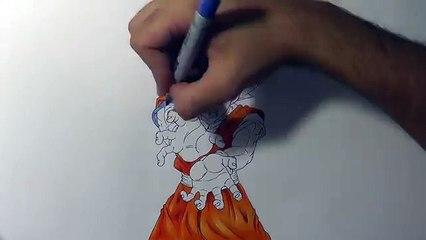 Drawing GOKU Super Saiyan GOD | TolgArt