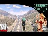 Grand Theft Auto 5 Online   Race   25 Story Freestyle Fun, Wallride Motorbike, Crazy Rubio