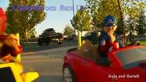 Super-héros Méga puissance roues course héros