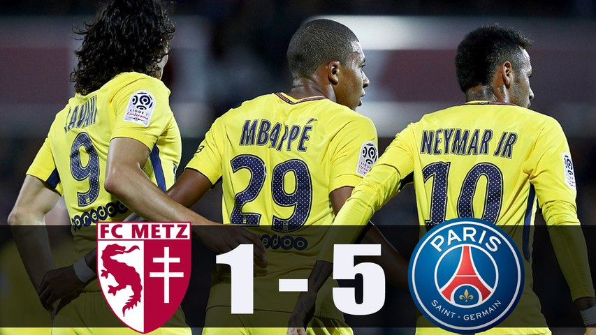 Metz vs PSG 1-5 | Neymar, Mbappe and Cavani Amazing Goals | All Goals and Highlights Ligue 1 09.09.2017