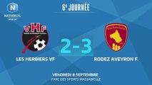 J6 : Vendée Les Herbiers Football – Rodez Aveyron Football (2 - 3), le résumé