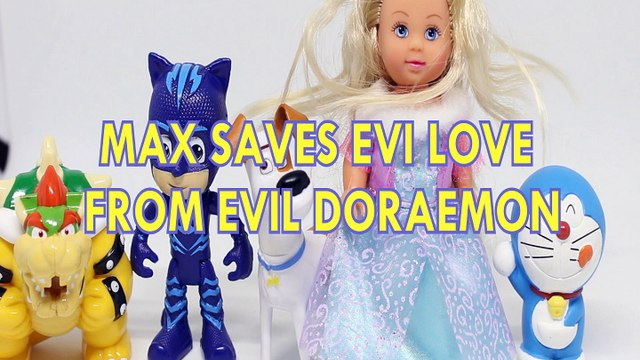 MAX SAVES EVI LOVE FROM EVIL DORAEMON TSLOP CAT BOY PJ MASKS TOYS , THE SECRET LIFE OF PETS ,  Toys BABY Videos, DREAMWO