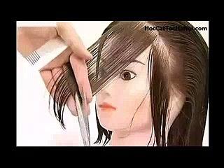 Video Học Cắt Tóc cơ bản Cắt Tầng Lớp, Basic Haircut Layer