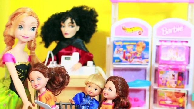 FROZEN Barbie TOY STORE Disney Frozen Parody Mother Gothel Tangeld Rapunzel AllToyCollector