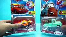 Color Changers Cars Flo, Snot Rod, Chick Hicks & Tow Truck Colour changing Underwater toys