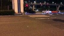 ドリ車が覆面パトカーに激突!クラッシュ!警察!ドリフト!暴走! japan street drift