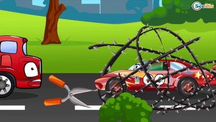 COCHES y juguete Excavadoras y Camiones. Dibujo animado de coches para niños