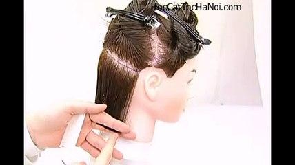 Video Học Cắt Tóc cơ bản Kiểu Đầu Bob, Basic Haircut Gradation Bob