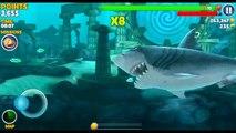 Hungry Shark Evolution Level 10 Megalodon vs megalodons-Ice sharks in Arctic Land