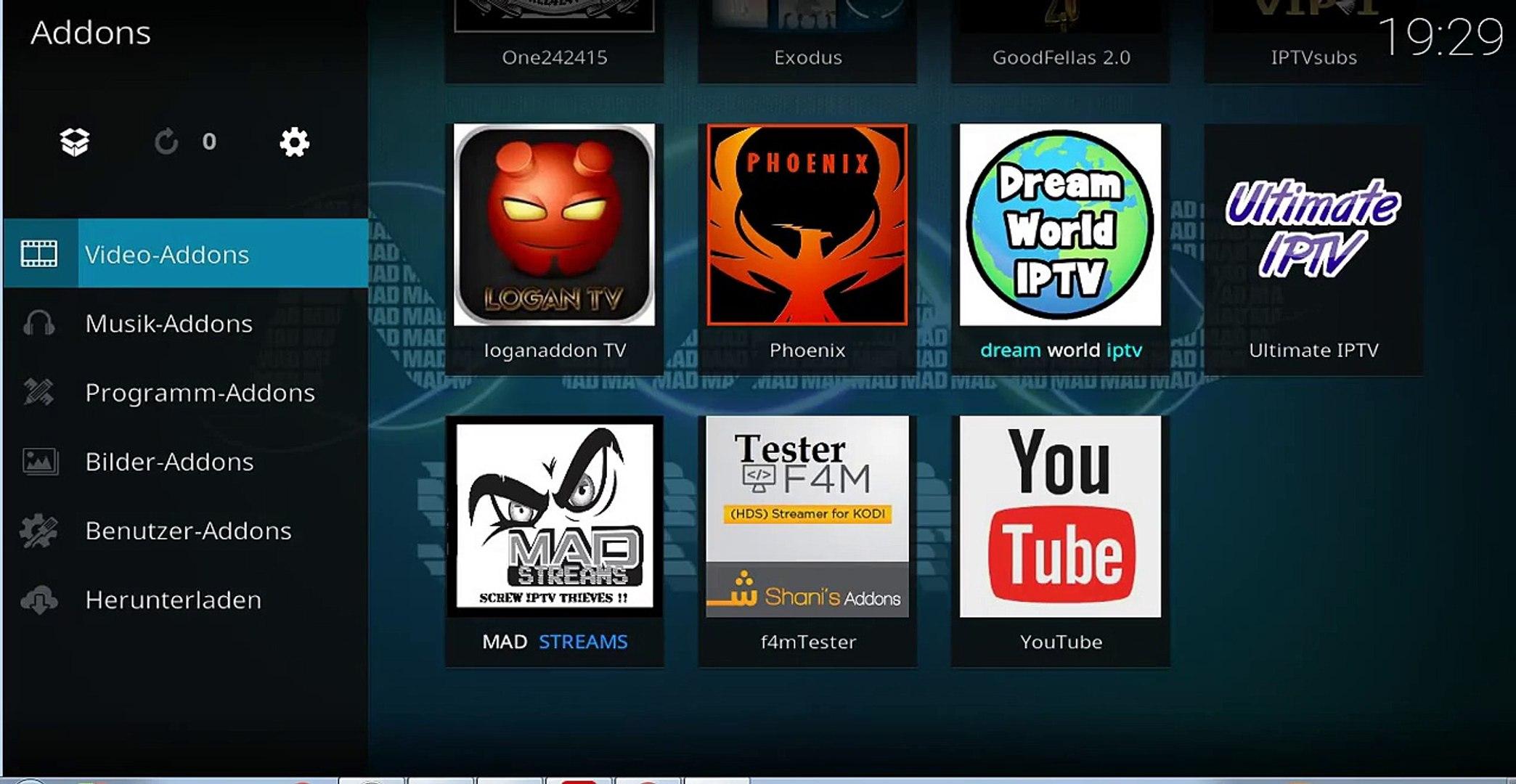 IPTV ( Live TV ) unter Kodi 17 & 18 / SKY Komplett Paket Deutsch/Sender aus  aller Welt
