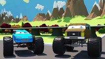 Des voitures mal dans monstre Courses un camion camions réglage vidéos Garage |