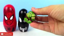 Boîte de Coupe poupées la magie Magie imbrication homme araignée empilage jouet jouets Surprise peter parker