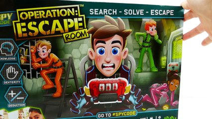 Spy Code Operation Escape Room Challenge #spycode Family Game Review