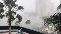 Ouragan: Sur twitter les internautes postent ce matin des vidéos de la tempête qui touche Miami Beach