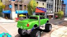 Homme araignée homme chauve-souris ponton et monstre camions les couleurs fête des voitures amusement film enfants chansons et