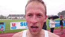Semi-marathon Auray-Vannes. Florian Le Vigouroux, 1 er régional en 1 h 08 et 24 secondes