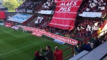 Standard - Charleroi: fumigènes, banderoles, tifos !