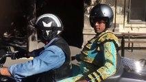 Arles : un torero se rend en Harley aux arènes