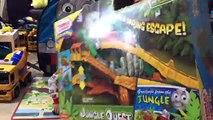Et des voitures caisse feu amis aller chasse coureur jouet déballage Thomas Pokemon tanknator