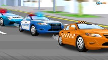 Cars Cartoon for children & kids 2D Animation - Cars & Truck Story Police Car with Racing cars