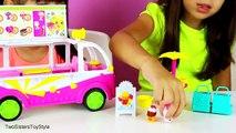 Время года 3. Ковши лед крем грузовая машина Набор для игр питание справедливая по автомобиль эксклюзивный весело игрушка видео