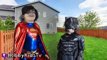 FART MONSTER! Batman Battles SpiderMan. Hulk Junk Food, Claymation Family Fun HobbyKidsTV