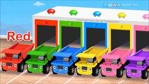 Et enfants couleur les couleurs déverser pour enfants Apprendre camions vidéos avec Animation de garage 2