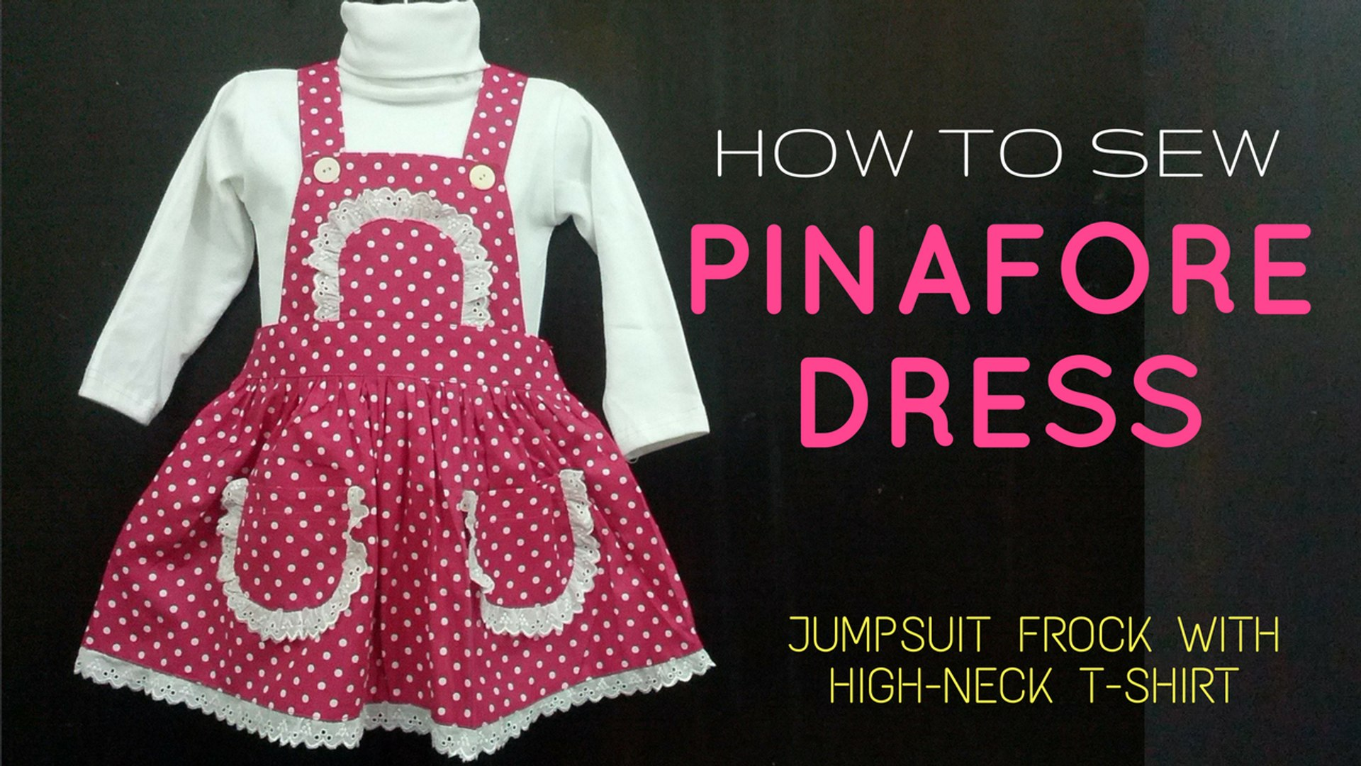 daa6d29d50202 How to Sew Jumpsuit Frock | Make Vintage Pinafore