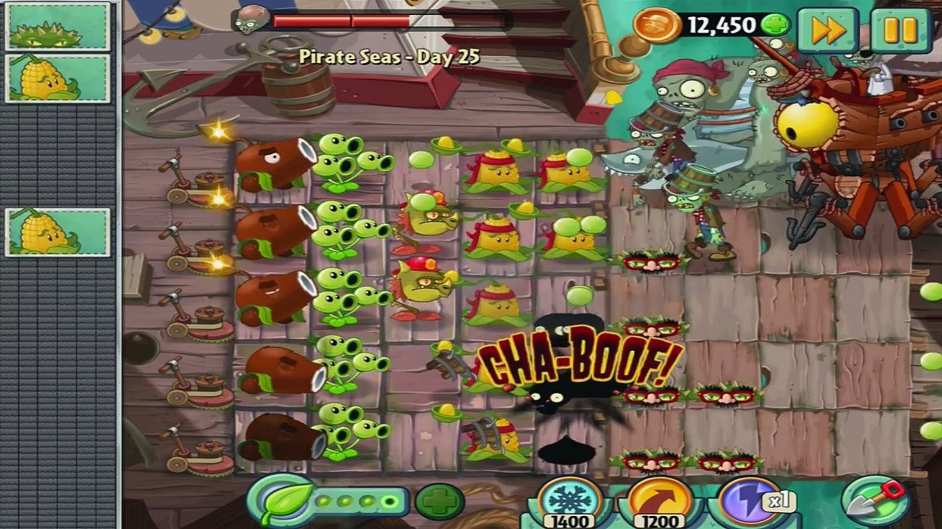 Plants vs Zombies 2 Crazy Dave vs Dr. Zomboss Battle Part 2 (Zombot Plank Walker)